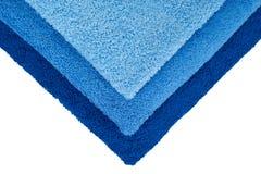3 голубых полотенца Стоковые Фотографии RF