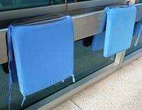 2 голубых подушки сиденья для кресло-коляск больницы Стоковое фото RF