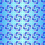 7 голубых рыб Стоковые Изображения