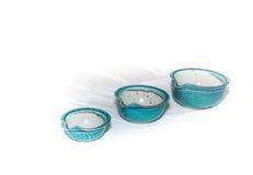 3 голубых шара гончарни Стоковые Фото