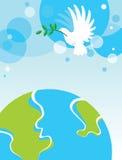Голубь над миром Стоковые Изображения RF