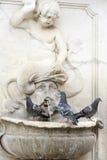 3 голубя на фонтане Стоковое фото RF