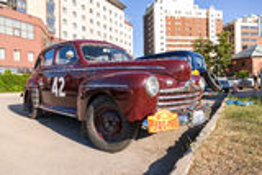 Год Форда ретро автомобиля супер делюкс 1946 Стоковое фото RF