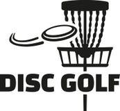 Гольф диска с корзиной и frisbee Стоковые Фото