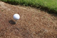 Гольф кантует песок Стоковая Фотография RF