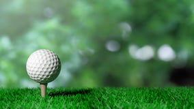 гольф шарика ударяя движение утюга стоковая фотография rf