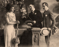 год 1914 сбора винограда портрета Стоковое Фото