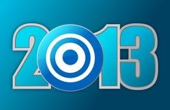 Год 2013 цели Стоковые Фотографии RF
