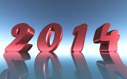 Год 2014 иллюстрация штока