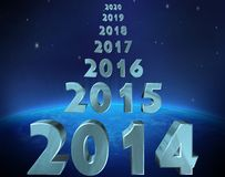 Год 2014 иллюстрация вектора
