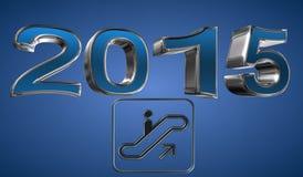 Год 2015 иллюстрация вектора