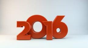 Год 2016 стоковая фотография