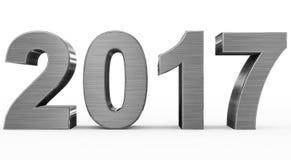 Год 2017 иллюстрация вектора