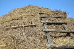 Грабли и лестницы к стогу сена Стоковая Фотография RF
