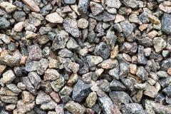 Гравий, задавленный камень Текстура конструкционного материала щебня стоковые изображения