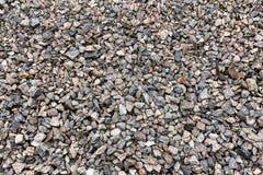 Гравий, задавленный камень Текстура конструкционного материала щебня стоковая фотография rf