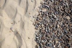 Гравий и песок предпосылки Стоковые Изображения