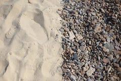 Гравий и песок предпосылки Стоковые Фотографии RF