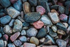 Гравий и серая предпосылка Камень природы и декоративная картина море и океан обоев стоковая фотография rf