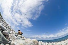 гравий пляжа стоковое фото rf