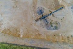 Гравий разрабатывать от воздуха стоковые фото