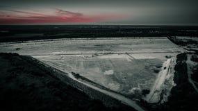Гравий разрабатывать от воздуха стоковая фотография rf