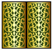 Гравировка логотипа рамки границы вектора винтажная с ретро картиной орнамента в дизайне античного стиля рококо декоративном иллюстрация штока