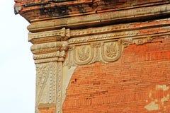 Гравировка стены виска Htilominlo, Bagan, Мьянма Стоковое Фото
