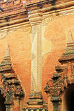 Гравировка стены виска Htilominlo, Bagan, Мьянма Стоковая Фотография