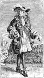 Гравировка французского короля, Луис XIV бесплатная иллюстрация