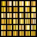 Градиент золота Золотой металл придает квадратную форму собранию вектора иллюстрация вектора