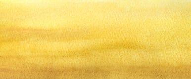 Градиент пляжа света знамени сети теплый желтый абстрактный покрашенный в акварели Стоковое Фото
