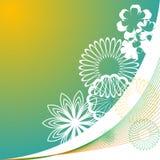 градиент предпосылки флористический Стоковые Изображения RF