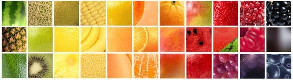 Градиент цвета сформированный различными плодоовощами Стоковые Фото