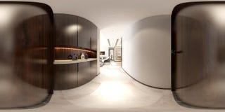 360 градусов домашнее внутреннего стоковое фото rf