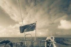 Гражданский флаг Великобритании знамени на паруснике стоковые фото