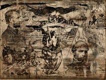 гражданское война памятных вещей иллюстрация вектора