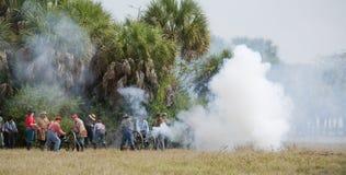гражданское война reenactment стоковые фотографии rf