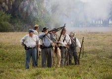 гражданское война reenactment стоковые изображения rf