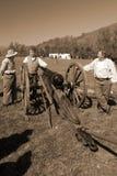 Гражданская война Reenactors карамболем Стоковое фото RF