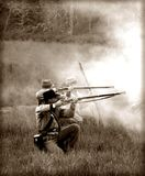 гражданское война reenactors Стоковые Фотографии RF