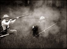 гражданское война reenactors Стоковые Изображения