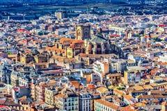 Гранада, Испания: Обзор собора вочеловечения стоковое фото