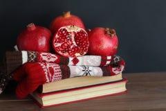 Гранатовое дерево на связанном свитере Стоковое Фото
