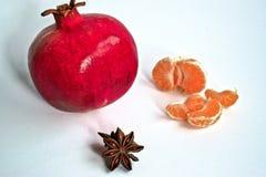 Гранатовое дерево и Tangerines Стоковая Фотография RF