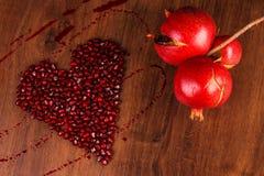 Гранатовое дерево сердца состава Стоковые Фотографии RF