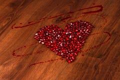 Гранатовое дерево сердца Copmposition Стоковое Изображение
