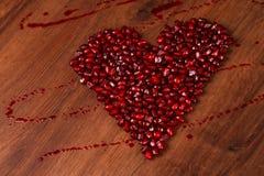 Гранатовое дерево сердца Copmposition Стоковые Изображения RF