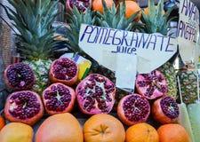 Гранатовые деревья и апельсины Стоковое Фото