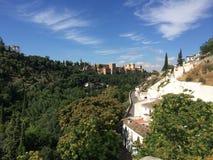 Гранада: Альгамбра и Sacromonte Стоковое Фото
